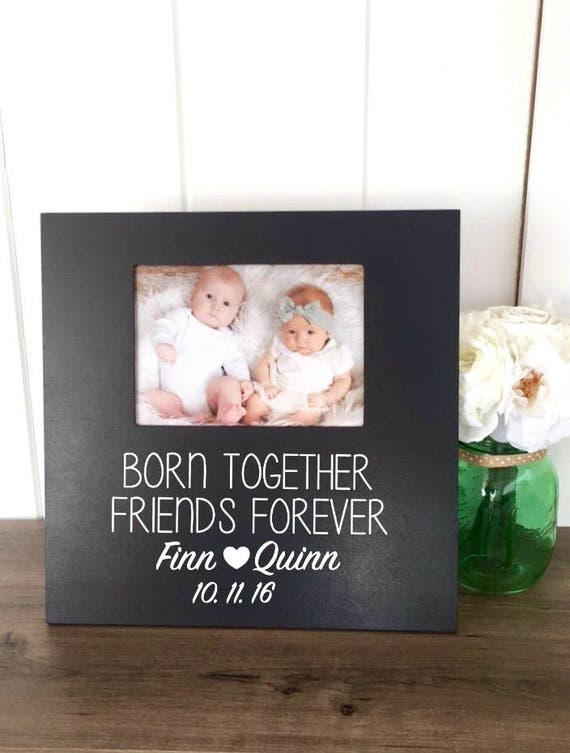 Twins Picture Frame Baby Gift Boy Girl