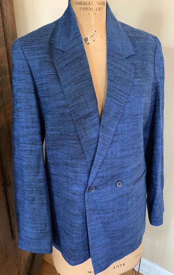 1980's Blue Oversized Blazer