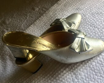 1960's Silver Bow Mules