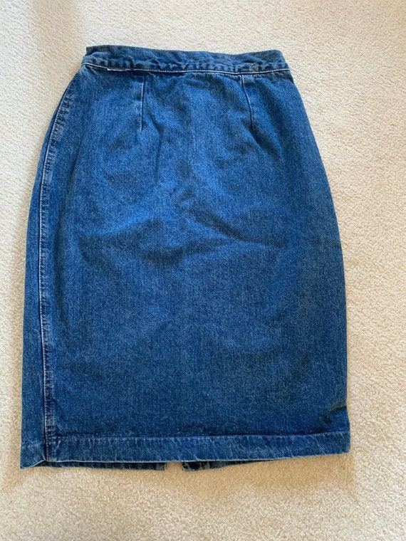 1980s Denim Pencil Skirt