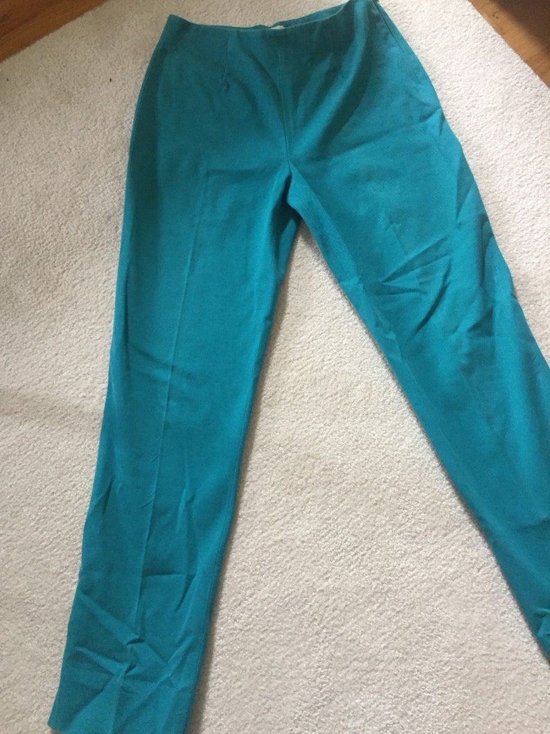 1990s Teal High Wasited Trousers