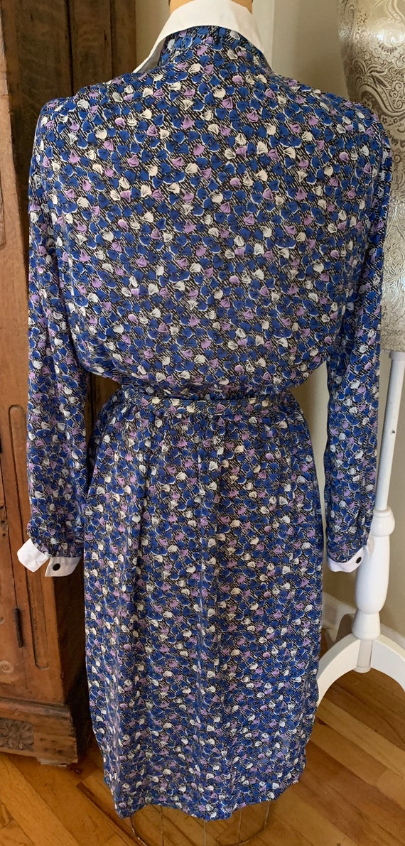 1970's Shirt Dress w Belt - image 8