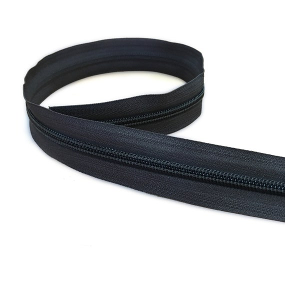 YKK Nylon Coil Zipper Tape # 10 Purple 1 yard with Pair of Nickle Zipper Sliders