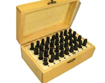 4mm Alphabet & Number Set Wood Box