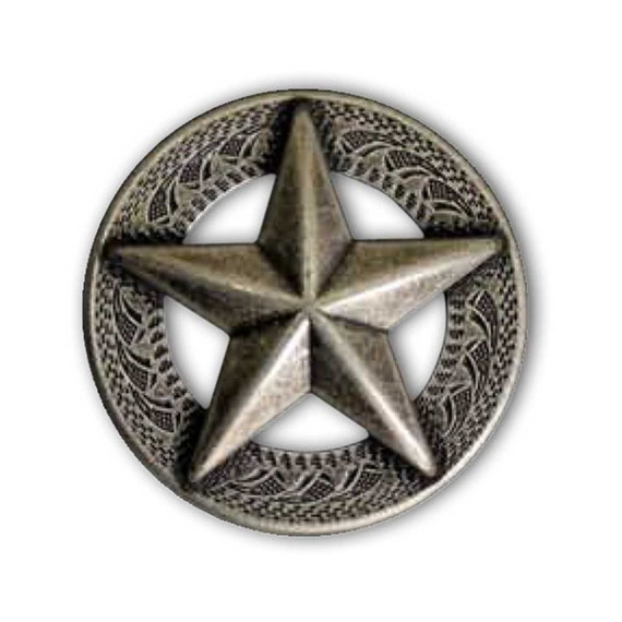 "Silverplate 1-1//4/"" The State of Texas Concho Double Rivet Back"