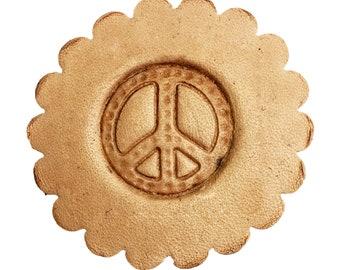 3-D Leathercraft Stamp Peace Symbol 8570-00