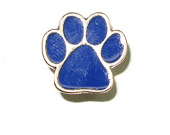 "Dog Paw Rivetback Concho - Black, Blue or Red Pendant 5/8"" x 5/8"""