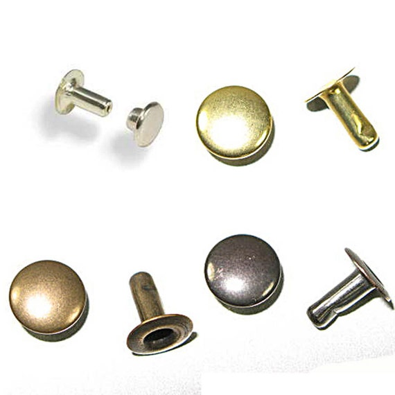 Rapid Rivets Large 9mm Cap 10mm Post Gilt