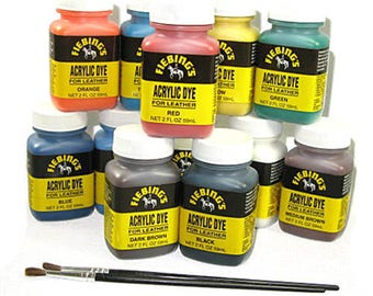 Fiebing's 2oz Acrylic Dye for Leather - 11 Colors