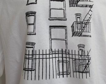 New York City screen printed mens t-shirt