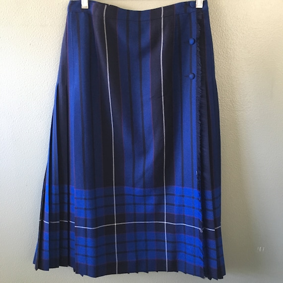 aljean plaid wool wrap skirt - size 12