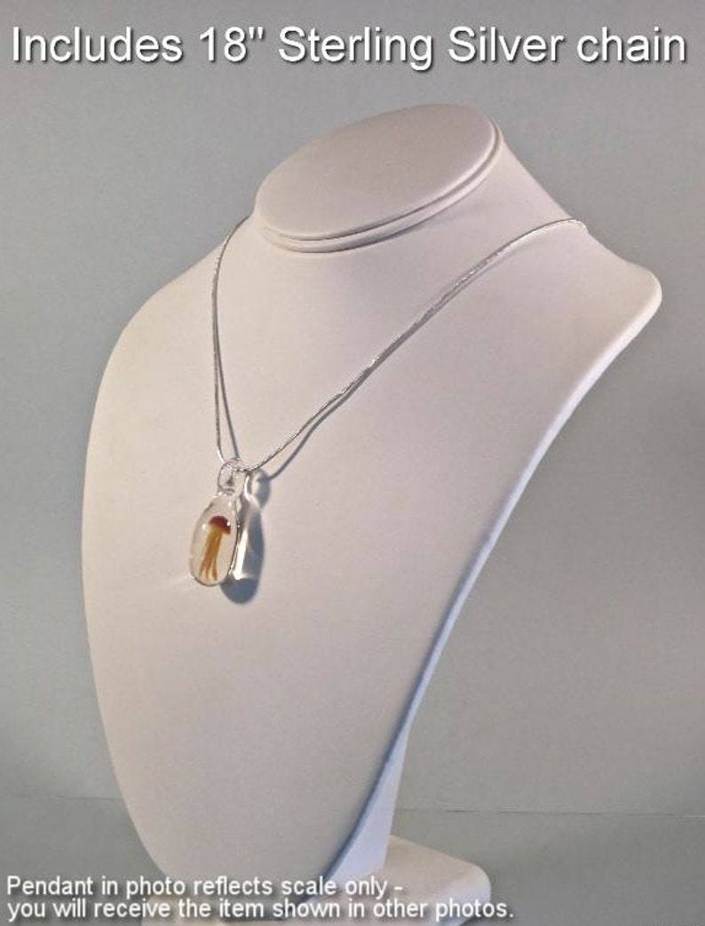 Glass Jellyfish Pendant Marbled OrangePurpleRust Borosilicate Lampwork