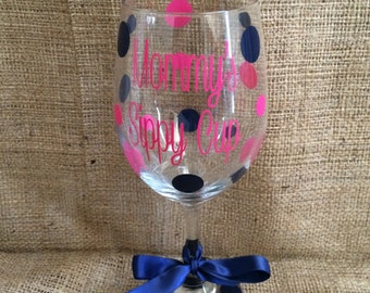 Mommy's and Daddy's Sippy Cup Wine Glass