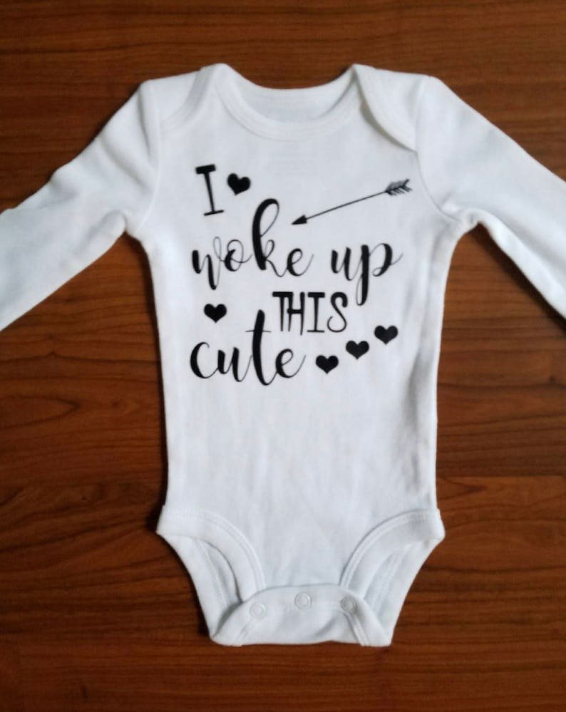 6c4f832b7 I Work Up This Cute Bodysuit /Funny Baby Shirt / Baby Outfit / | Etsy