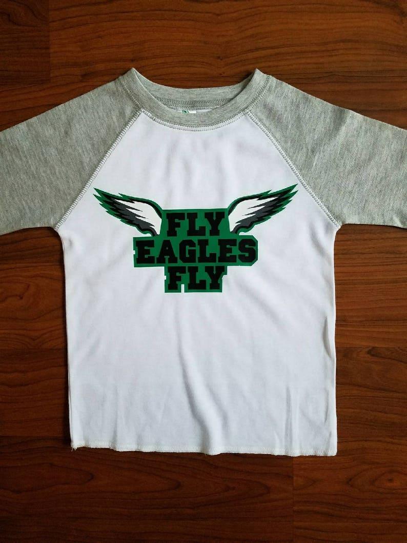 833c24f1 Fly Eagles Fly Shirt / Custom 3/4 sleeve baseball tee / | Etsy