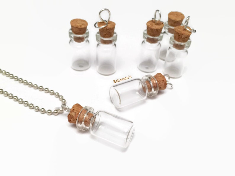 45137e22fc38 Vial necklace bottle necklace jar necklace ashes keepsake
