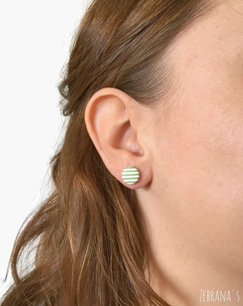 78aab8080 Striped earrings polymer clay earring minimalist earrings | Etsy
