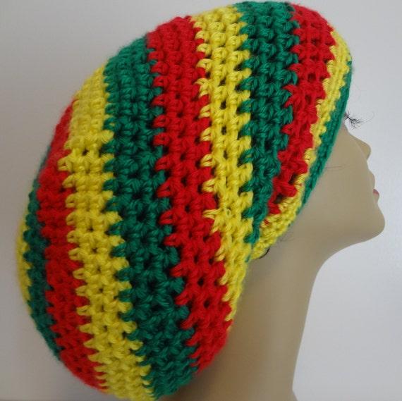 bde505a56cb Slouchy Hat Rasta Hat Dread Hat Reggae Locs Hat