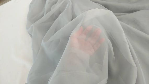 """PLAIN VOILE SHEER POLYESTER FABRIC Width 120/"""" inches SOLD PER YARD"""