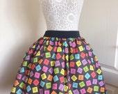 Topsy Turvey Periodic Table full skater style skirt