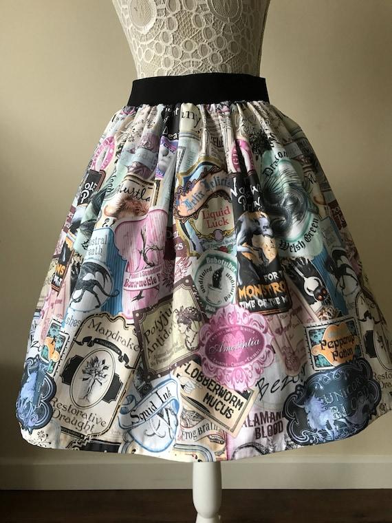 4f427fdabcf7f Harry Potter inspired The Potions Master skater style skirt