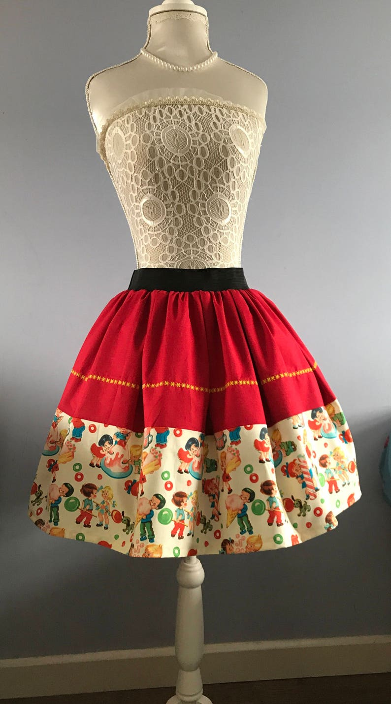 60d8e5397482a2 1950 s inspired Candy Shop skater style skirt