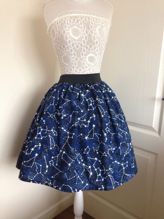 Glow In The Dark Constellations Skater Style Skirt by Etsy