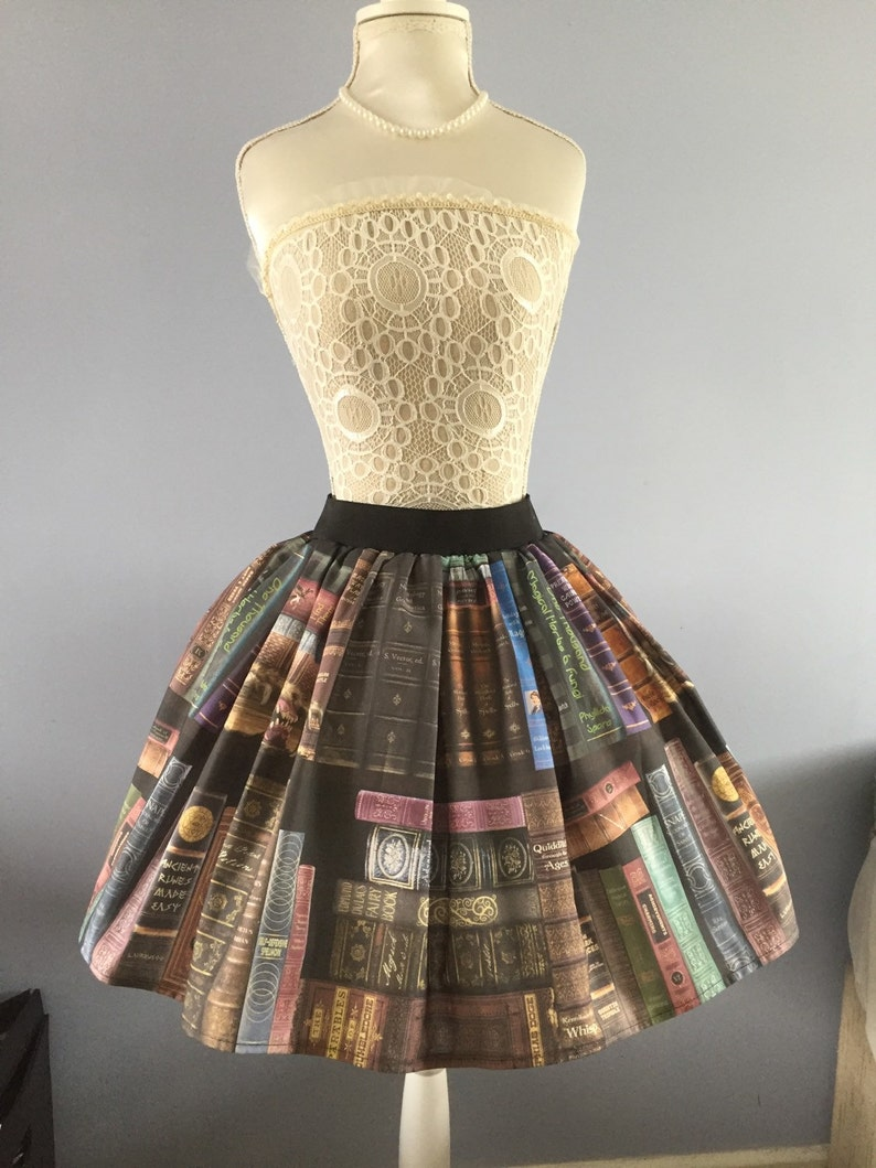 811a5b7d9c747 Harry Potter inspired Magical Library Books full skater style