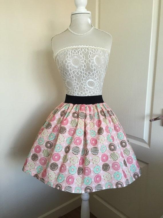Ladies Or Girls Sugar Donut Full Skater Style Skirt by Etsy