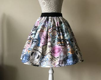 Ladies or girls Harry Potter inspired The Potions Master skater style skirt