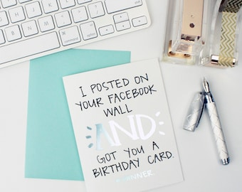 Foil Facebook Birthday Card