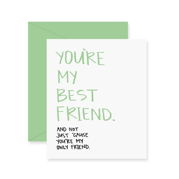 Youre my best friend greeting card love card etsy image 0 m4hsunfo