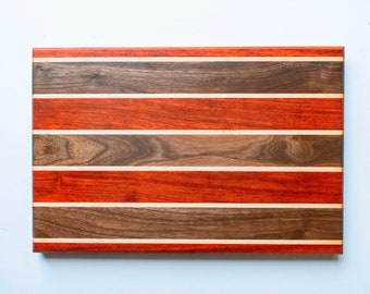 Handcrafted maple and padauk filliting Board Cutting Board serving tray