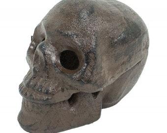87044ade4a8 Cast iron Skull box