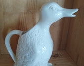 Duck water milk pitcher pourer, french country cottage,farm house,shabby chic