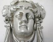 goddess door knocker in pewter finish,