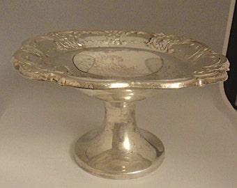 Vintage Silverplate Compote Bon Bon Dish EPCA Silverplate by Poole 339 (859)
