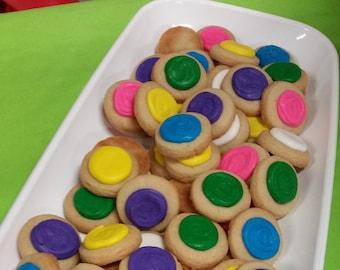 Unicorn Mix Round Button Cookies (4 dozen)