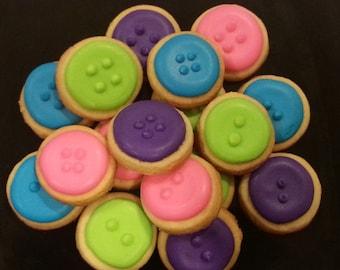 Mini Whimsical Button Cookies (4 dozen)