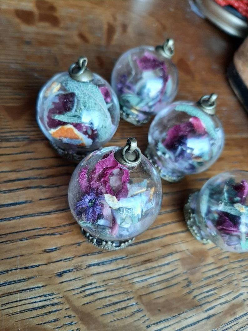 Spring Equinox Herb Terrarium Necklace