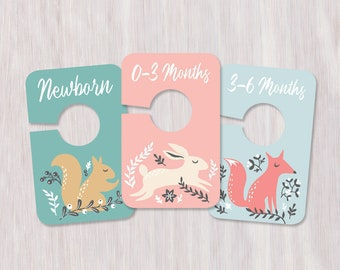 Whimsical Woodland Printable Baby Closet Dividers
