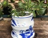 Porcelain Plant Pot Blue And White Pottery Succulents Cactus Houseplant-
