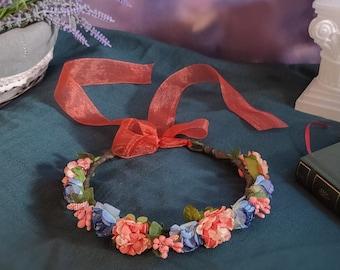 Cottagecore flower crown, ren faire, wedding, flower headband, bride headdress, Fairycore, flower hair crown, bridesmaid