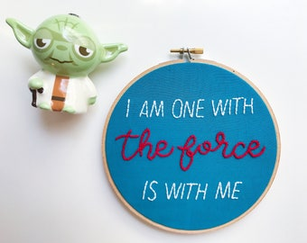 one with the force star wars hoop