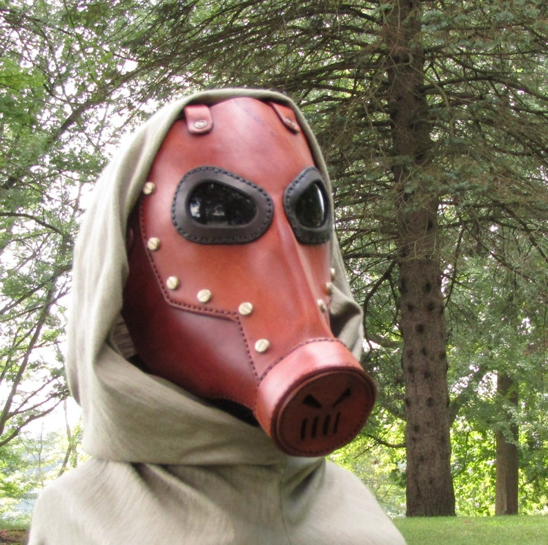Brown Leather Gas Mask Cosplay Costume Borderlands Mortal Engine Post  Apocalyptic Dystopia Rising