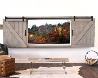 Rustic Tv Wall Mount Etsy
