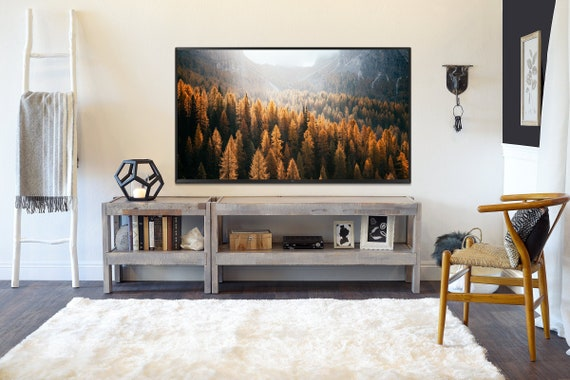 Gray Rustic Wood Reclaimed Tv Stand Entertainment Center Etsy