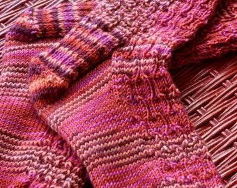 Women's Handknit Socks in Deck the Halls BMFA Socks That Rock!