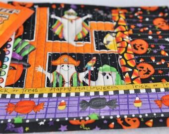 Halloween Ghosts Pirates Jack 'o Lantern Mug Rug