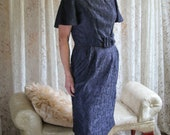 1950 39 s Cocktail Dress - Party Dress - Authentic Vintage - Lace Dress - Tea Length - Belted Dress - Miss Peg Palmer - Vintage Party Dress